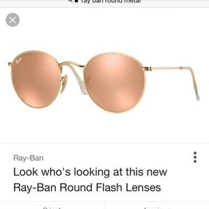 Ray-ban Sunglasses Gold Metal Round